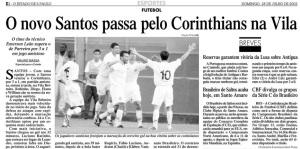 2002 - Santos 3 x 1 Corinthians - Amistoso