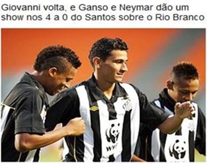 Rio Branco x Santos - globo esporte